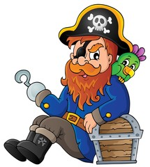 Papiers peints Pirates Sitting pirate theme image 1