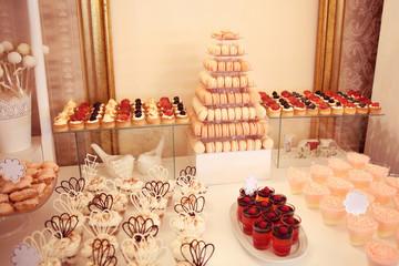 Desserts on plate