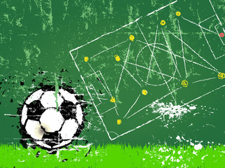 Soccer or Football, free copy space, vector