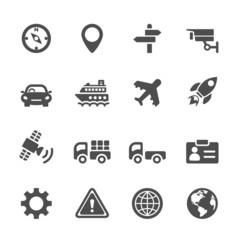 transportation icon set, vector eps 10