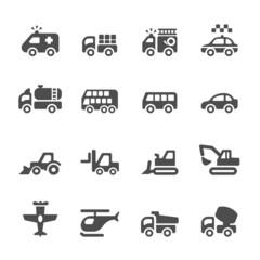 transportation and vehicles icon set 4, vector eps 10