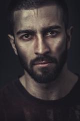Portrait of a beardy man