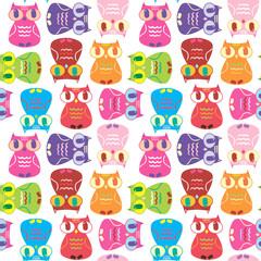 funny owl pattern 2