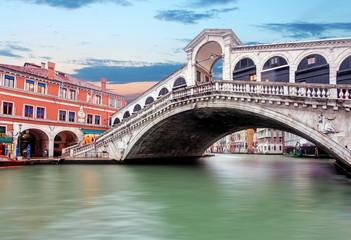 Obraz Venice - Grand canal from Rialto bridge - fototapety do salonu