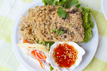 Crispy catfish spicy salad.