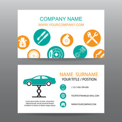 Business card vector background,car salesman