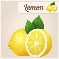 Lemon. Detailed Vector Icon