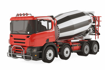 Cement Mixer Truck isolated