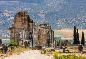Volubilis - ruins of historical city from age of roman,Morocco