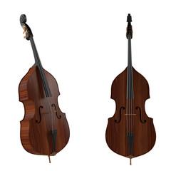 Contrabass,double bass.Classical music instrument