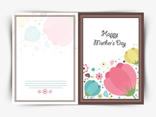 Greeting card design for Happy Mother's Day celebration.