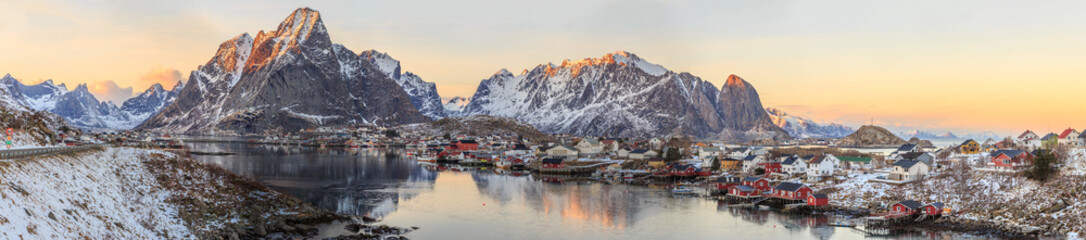 Foto op Canvas Scandinavië fishing towns in norway