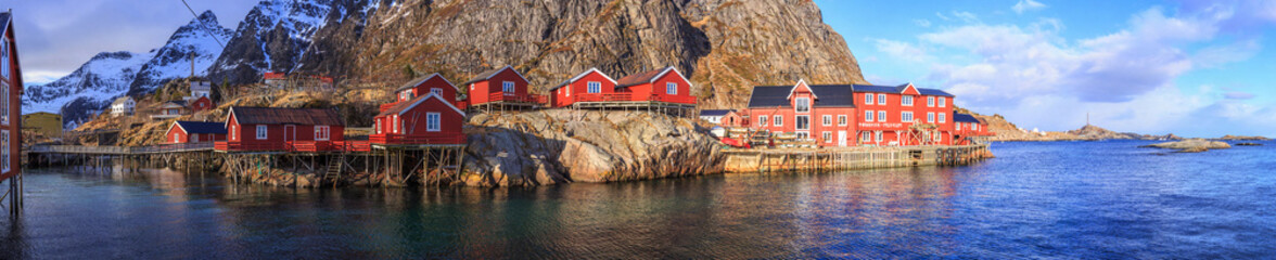 Foto auf Acrylglas Skandinavien fishing villages in norway