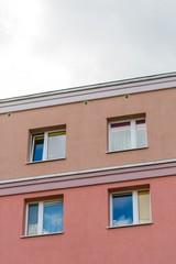 Block of flats building close up