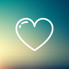 Heart thin line icon