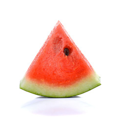 water melon sliced  on white background