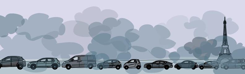 Air pollué aux particules fines