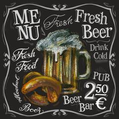 beer bar vector logo design template. alcoholic drink or menu