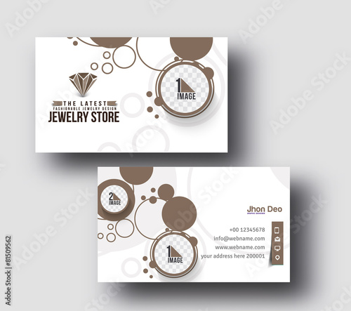 Jewelry shop business card vector template stock image and royalty jewelry shop business card vector template colourmoves