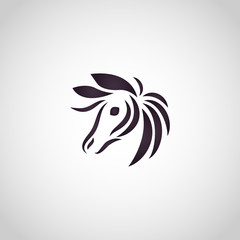 Donkey logo vector