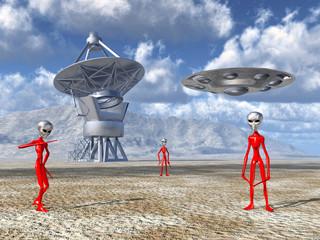 Aliens entdecken auf der Erde ein Riesenteleskop