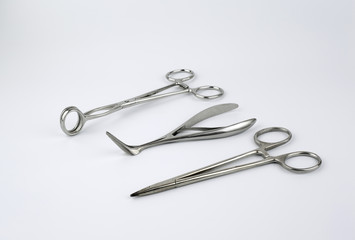 Surgical tool isolated on a white background