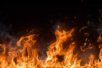 Deurstickers Vuur Beautiful stylish fire flames