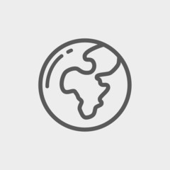 Globe thin line icon