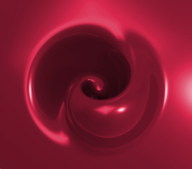 Wall Mural - 3d abstract red swirl background