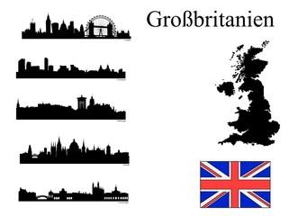Städte in Großbritanien
