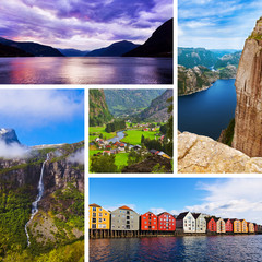 Collage of Norway travel images (my photos)