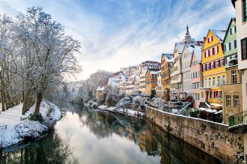 Neckarfront, Tübingen im Winter