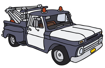 Hand drawing of a,breakdown service car