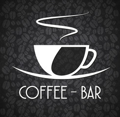 Logo Minimalist Coffee Bar Black and White