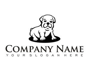 dog puppy pet character logo image vector