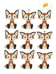 Fox Emoticon Set