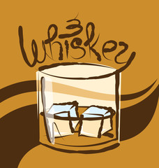 Vector Glass of Whiskey