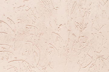 Closeup fragment shabby stucco wall