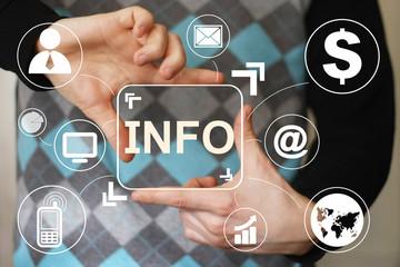 Business button info icon information web virtual