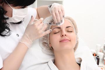 Rejuvenation procedure in beauty clinic