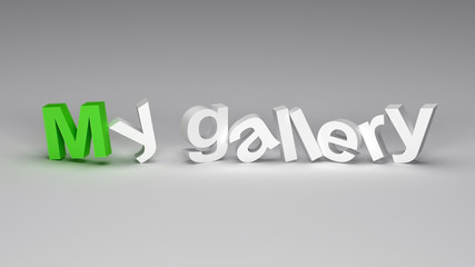 My gallery 3D text with colored M