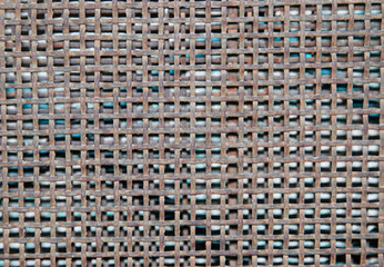 small rusty metal grid