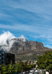 Cape Town (with clouds over the table mountain)