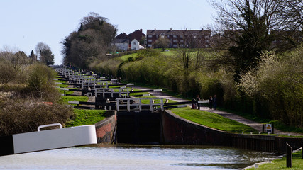 Caen Hill Locks Devises, Wiltshire.