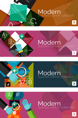 Set of flat design circle option infographics concepts