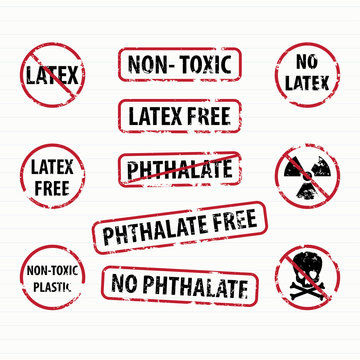 Latex and Phthalate free stamps set