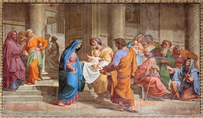 Wall Mural - Rome - Presentation in Temple - in Basilica di Sant Agostino