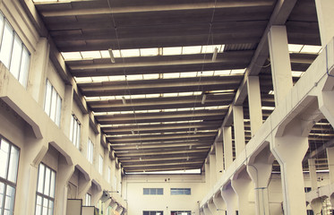 Industrial empty interiors