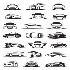 set of twenty-one car icons