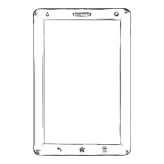 Vector Single Sketch Tablet PC with Blank Display